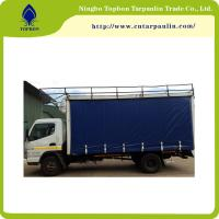 Buy 650GSM green blue PVC coated tarpaulin for truck cover  trail cover durable Tb003 at wholesale prices