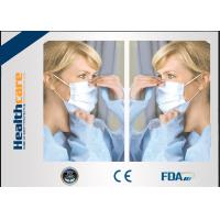 Buy cheap Disposable Sterile Surgical Masks , Face Mask Medical Use For Mouth Protection from wholesalers
