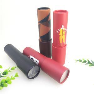 CMYK Color Cardboard Cylinder Packaging / Custom Paper Crystal Ball Kaleidoscope Kids Tube