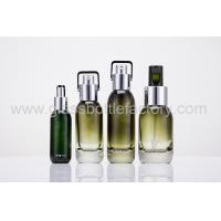 2017 New Design 15ml,30ml,40ml,50ml Color Painting Glass Lotion Bottles With Silver Pumps
