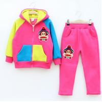 Quality Hot! Fashion The new children suit / Korean boy / cartoon monkey / velvet / small fresh pants suit /Wholesale for sale