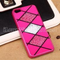 Quality Plaid Diamond Plastic Case Cover For iPhone 5 for sale