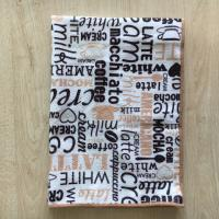 China coffee colored single side printed high quality kitchen towels clean wipes on sale