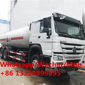SINO TRUK HOWO 6*4 LHD 25,000L LPG Gas Tank Truck for sale, HOT SALE!  HOWO bulk propane gas tanker delivery truck