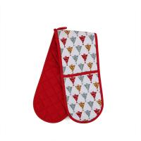 Quality Custom Long Cotton Microwave Oven Mitts Christmas Theme For Hand Protection for sale
