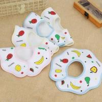 Buy cheap Zero Formaldehyde Printed Muslin Burp Cloths 100 Cotton MBCT 015 Custom Size from wholesalers