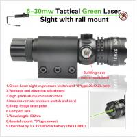 Quality 5-35mw Shooting Rifle Scope Tactial Green Laser Sight Fog Proof With Rail Mount for sale