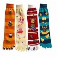 China Seamless animal kids mismatched novelty design knitted Knee high cotton tube socks on sale