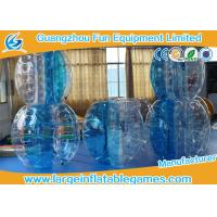 Buy cheap First class blue TPU football inflatable bubble ball / knock ball for outdoor events product