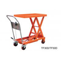 Quality Vehicular Pneumatic Motorcycle Lift Table , Stationary Scissor Hydraulic Scissor Lift Cart for sale