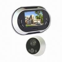 Quality 3.5-inch LCD Screen Video Door Viewer with Doorbell and Automatically Take Photo Function for sale