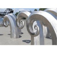 Quality Public Art Large Metal Wave Sculpture , Outdoor Abstract Steel Sculpture for sale