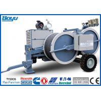 Quality 2 x 40kN Hydraulic Electric Tensioner Two Rope Conductors Max 8 Ton 77kw for sale