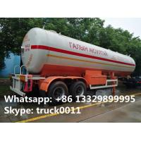 Quality hot sale FUWA 2 axles 40500L propane gas trailer, best price FUWA/BPW double axles 17tons road transproted lpg gas tank for sale