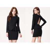 China Chic Open Back Women Cute Clubbing Dresses With Long Sleeves on sale