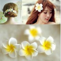 China DIYPE foam artificial flowers artificial flower hairpin side clip wedding, frangipani on sale