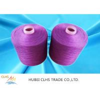 China Multi Color Knotless Dyed Polyester Yarn 40 / 2 40 / 3 100% Polyester Spun Yarn For Bedcover on sale