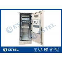 Quality Single Wall Heat Insulation 38U Outdoor Telecom Enclosure 750x700x2000 With DC Air Conditioner for sale