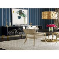 Quality Striped Pattern American Style Wallpaper Waterproof For Living Room , SGS CE Listed for sale