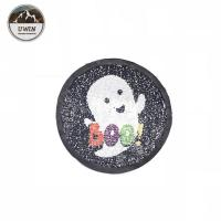 Quality Halloween Ghost Sequin Embroidery Patches Iron On / Sew On Style DIY Badge for sale