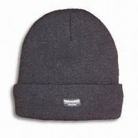 Quality 100% Acrylic Knitted Hat with Thinsulate Lining, Available in Men's Sizes for sale