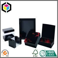 China Clear Plastic Window Black Matte Color Print Paper Gift Chipboard Box on sale