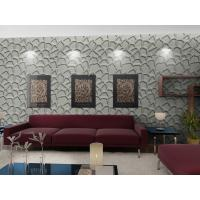 Quality Fashion Wall Art  3D Living Room Wallpaper , Modern 3D Wall Panel for Sofa Background for sale