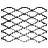 China Heavy Duty Steel Grill Expanded Metal Sheet , Diamond Metal Mesh In Silver on sale