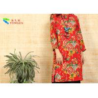 Quality Red Cotton Long Sleeve Fancy Dresses for sale