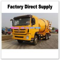 Quality LHD & RHD 6x4 Tri-Ring 375HP 8--12CBM concrete cement mixer truck for Angola for sale
