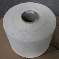 Quality Hemp / Combed Organic Cotton Blended Knitting Yarn 21Ne Bleached White on Cone for sale