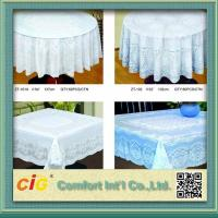 Quality Elegant Patterned Lace Round PVC Table Cloths  For Home , Hotel , Picnic or Restaurant for sale