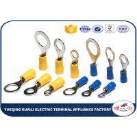 Quality Brass / Copper Insulated Crimp Wire Ring Terminal 22 - 16 AWG High Conductivity for sale