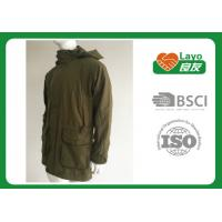 Quality Olive Color Waterproof Shooting Jacket 100% Polyester Windbreak Thermal For Men for sale