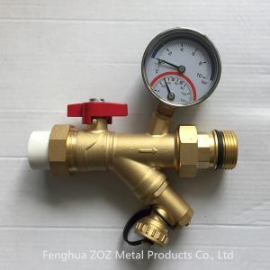 Underfloor Heating Strainer Ball Valve with Thermometer