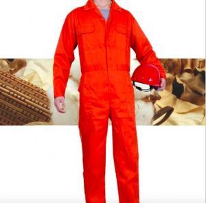 China Orange Fire Retardant Coveralls , New Style Anti - UV Construction Coverall on sale
