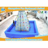 Quality Air Blowing Inflatable Rock Wall Indoor Climbing Wall Bouncer / Jumper With Fire Retardant Material for sale