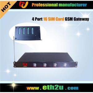 Quality 4 Ports Gsm Gateway 16SIM CARD for sale