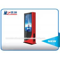 Outdoor LCD Touch Screen Digital Advertising Kiosk , Digital Signage Advertising Player