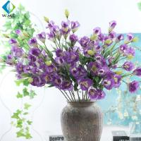 Eustoma Artificial Flower Bouquet Romantic Style For Restaurant Table Ornament for sale
