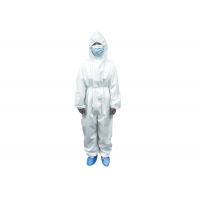 China Flame Retardant Anti Virus 60gsm Disposable Protective Clothing on sale