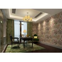 China Removable Retro Vintage Wallpaper , Vinyl Floral Wallpaper with Waterproof on sale
