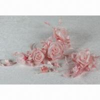 China Yarn Rose-A Pastel Color Series Bridal Headwear, Ideal for Wedding Gown and Dress on sale