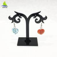 Quality Elegant Acrylic Jewelry Display Black Tree Acrylic Earring Display Stand Holder Rack for sale