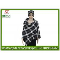 Quality Woven plaid tassel poncho 239g140*140cm100%Acrylic best price high quality direct factory supply BSCI keep warm for sale