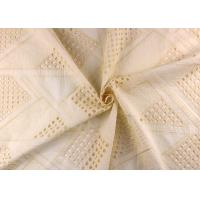 Quality Allover Embroidered Eyelet Cotton Lace Fabric For Wedding Dresses With Hollowed Circle for sale