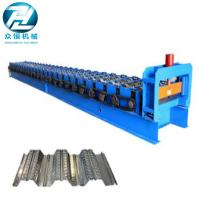Quality 0.7-1.5 Thickness Roof Floor Deck Steel Roll Forming Machine For Construction for sale