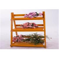 Quality Wood Decorative Outside Plant Shelves , 3 Tiered Flower Pot Stand Decorative Patio  Furniture for sale
