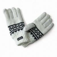 Quality Jacquard Gloves with Thinsulate Lining, Made of Acrylic for sale