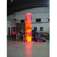 Quality 5m Customized Color Advertising Helium Balloons Inflatable Pillar With Light For Party for sale